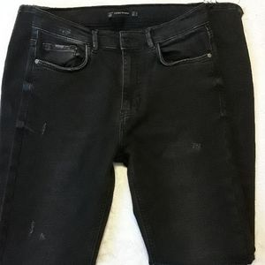 Zara Trafaluc denimwear black jeans